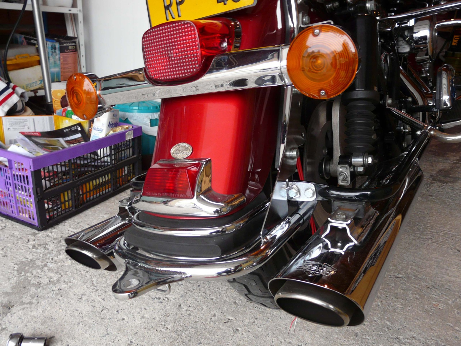 monter une boule de remorquage attelage sur une harley davidson road king 1340 kaz biker. Black Bedroom Furniture Sets. Home Design Ideas
